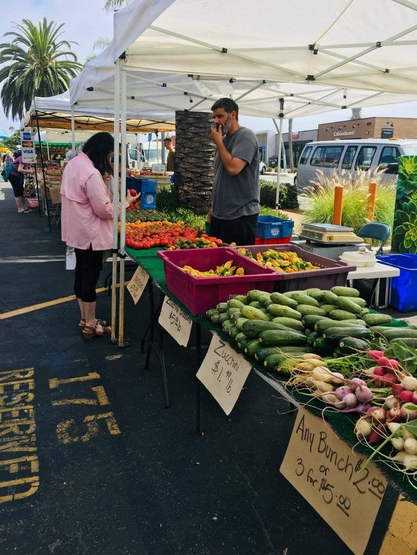 Farmers market in every town every week.