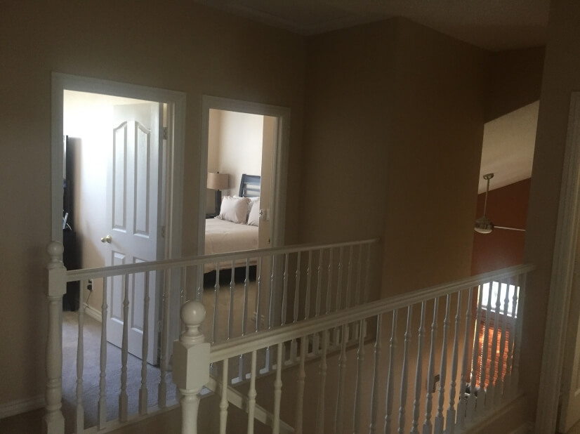 Upstairs bedroom walkway