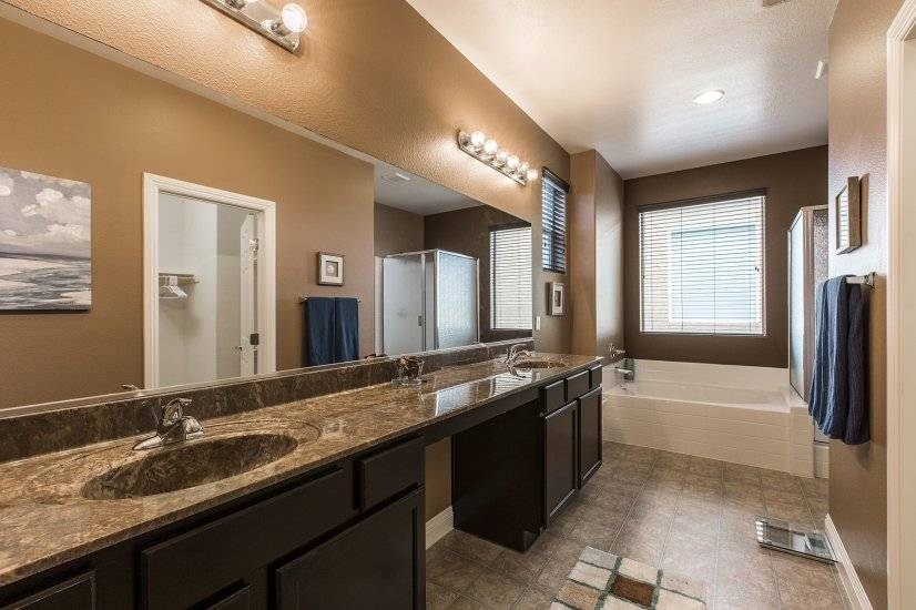 Spacious Master Bathroom with two sinks
