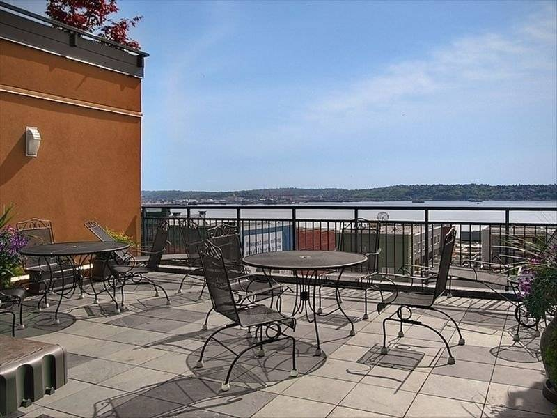 Rooftop deck with BBQ, access thru other building