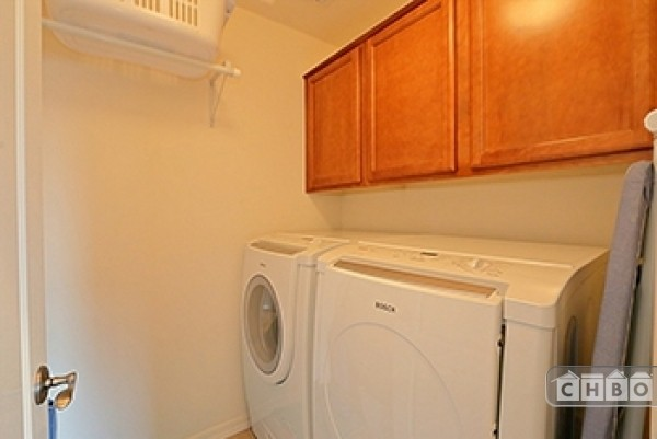 In unit front loading HE laundry room