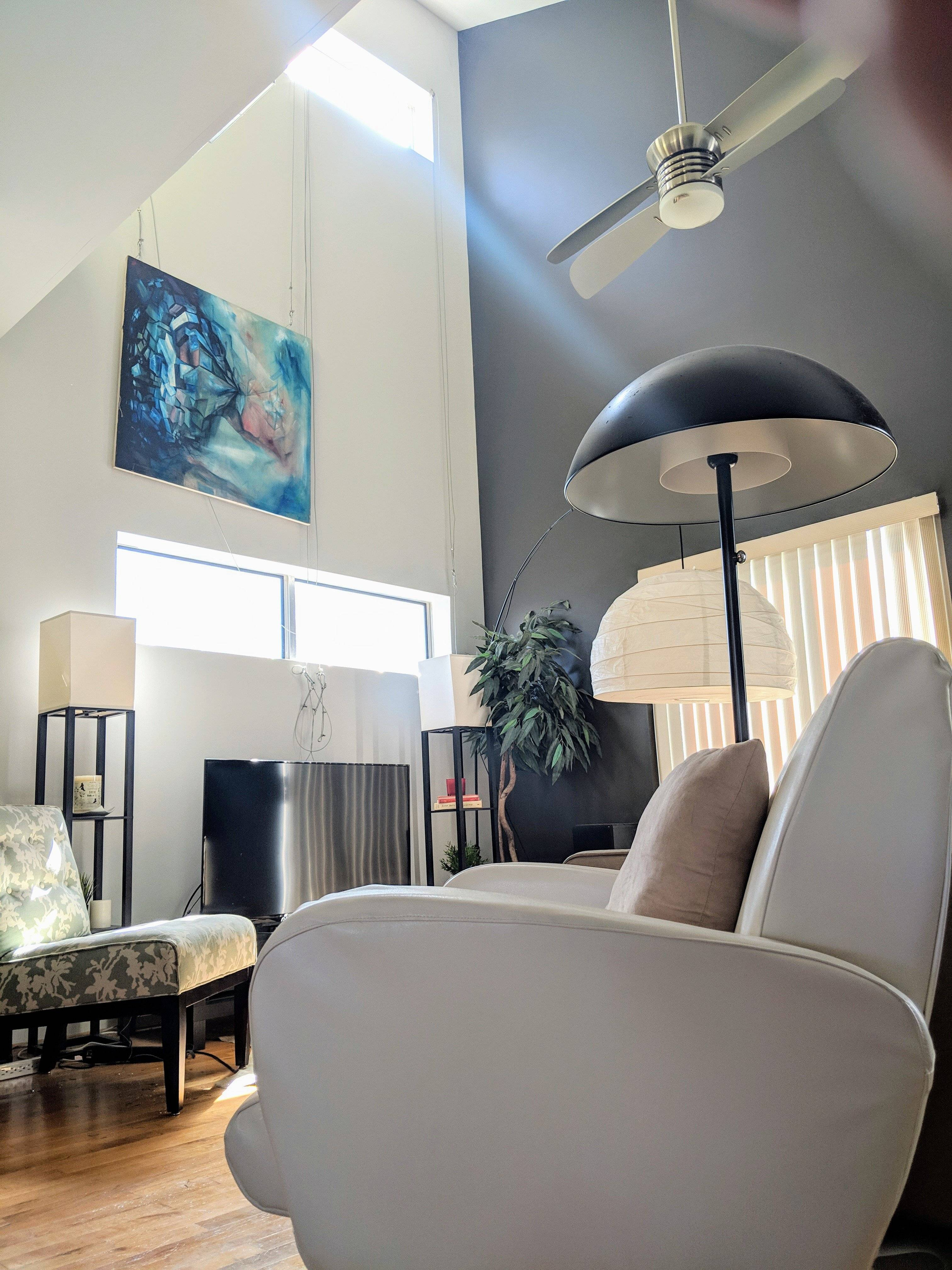Living Room Detail 2, great urban features and modern art