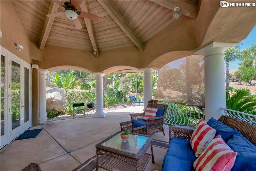 Breezy veranda on a hot day.
