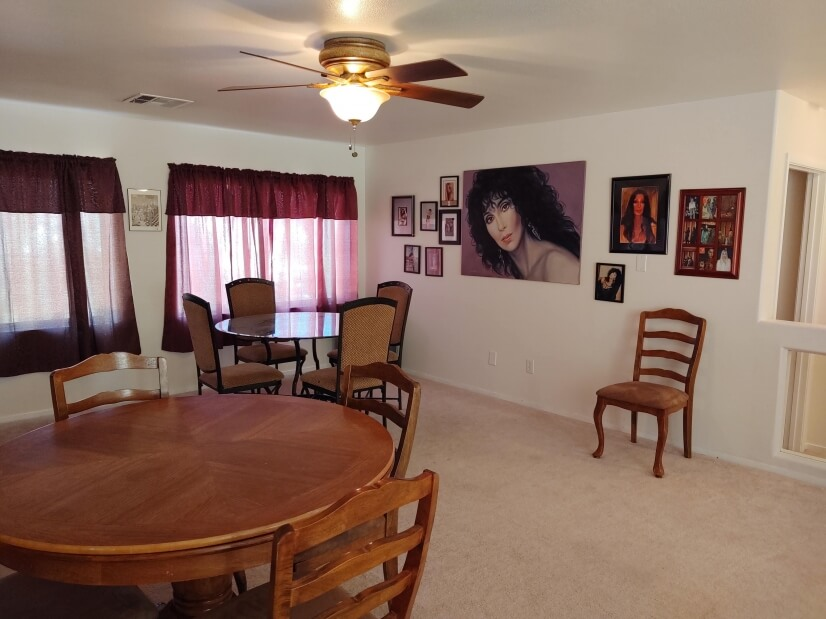 Upstairs loft - game room and Cher!