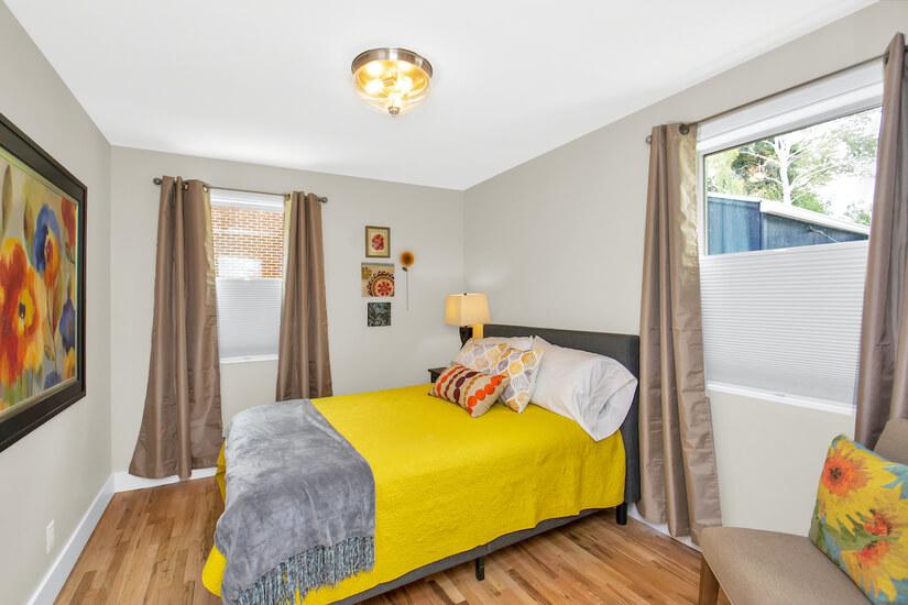 Bedroom #2 Yellow Room Double memory foam bed
