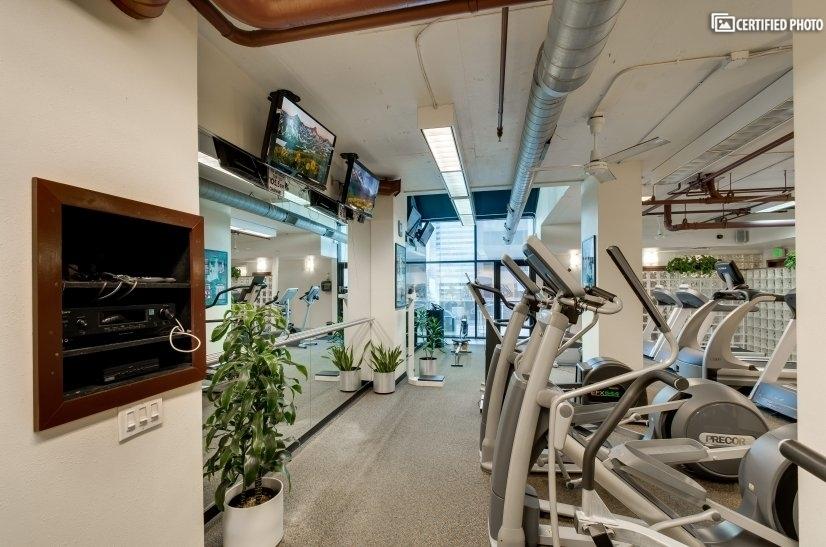 Great exercise area-treadmills, ellipticals, bikes & more