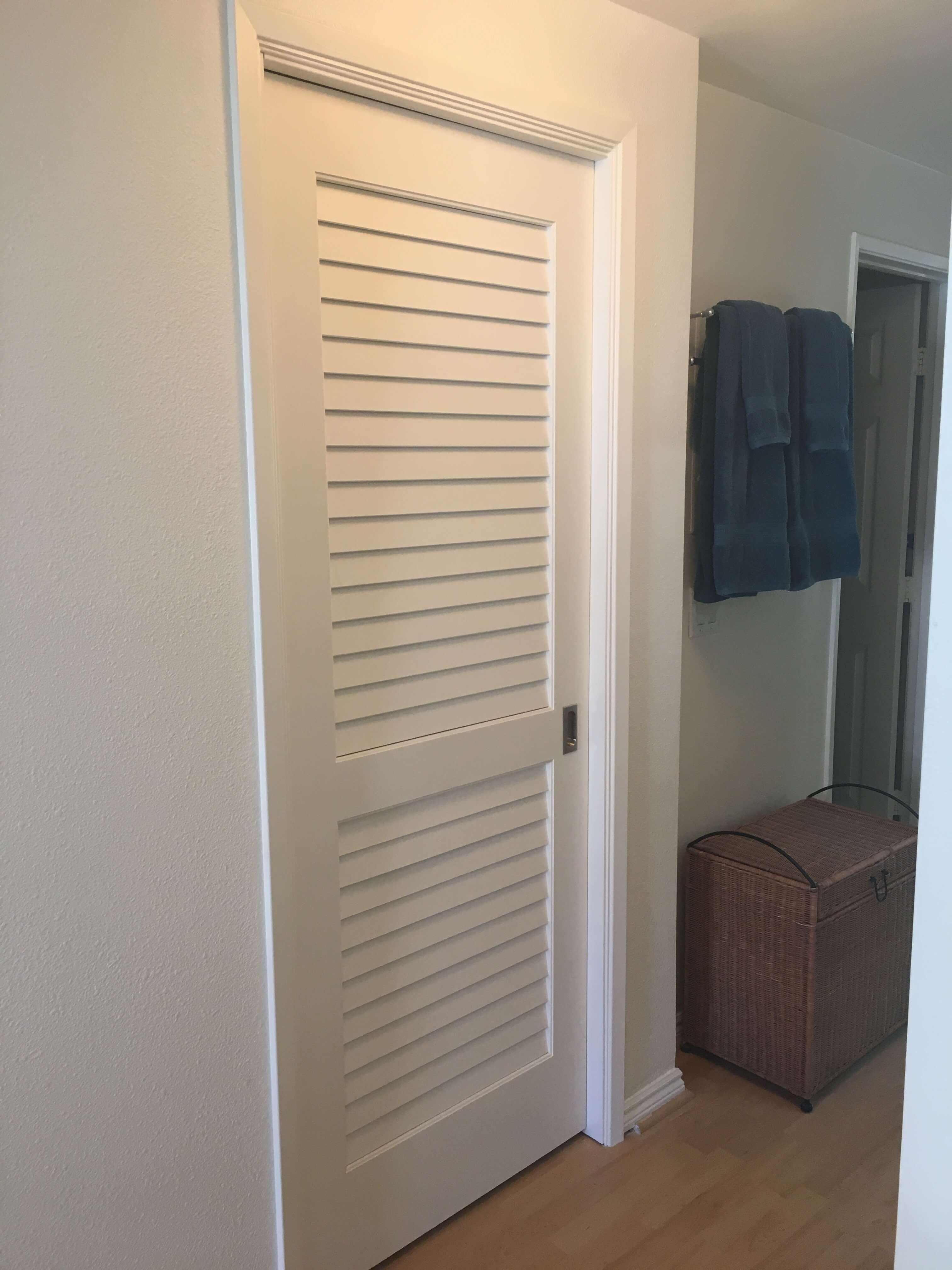 Walk-in closet door
