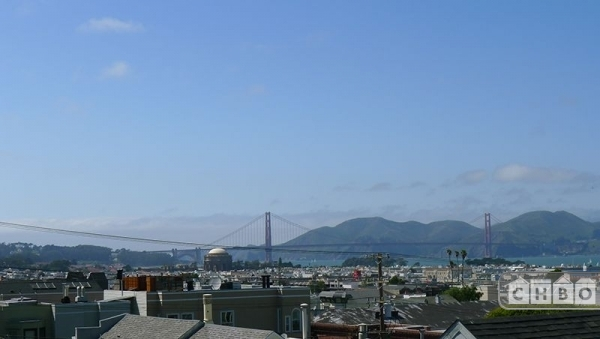 Daytime views of the bay and the Golden Gate Bridge