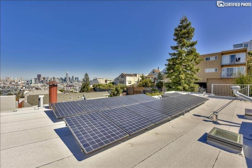 City view, solar roof