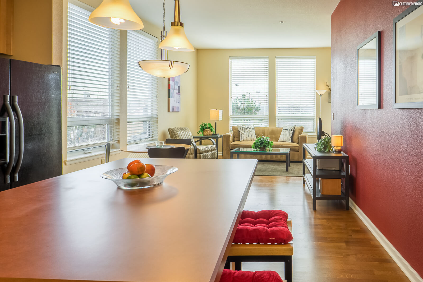 Open dining living