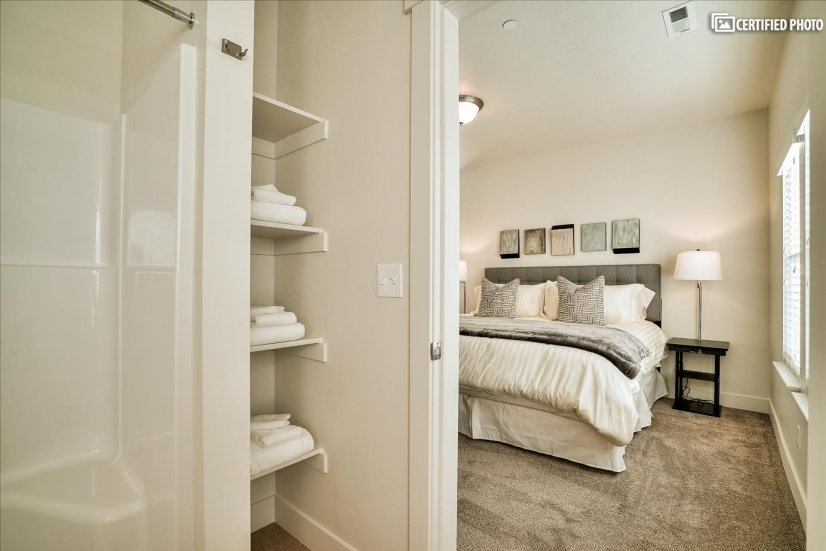Linen space in Master Bath