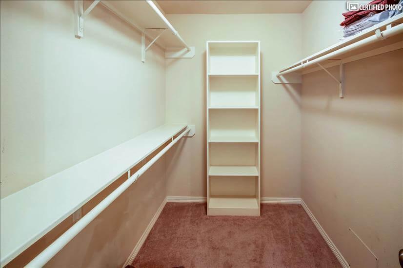 Bedroom 2's large walk in closet