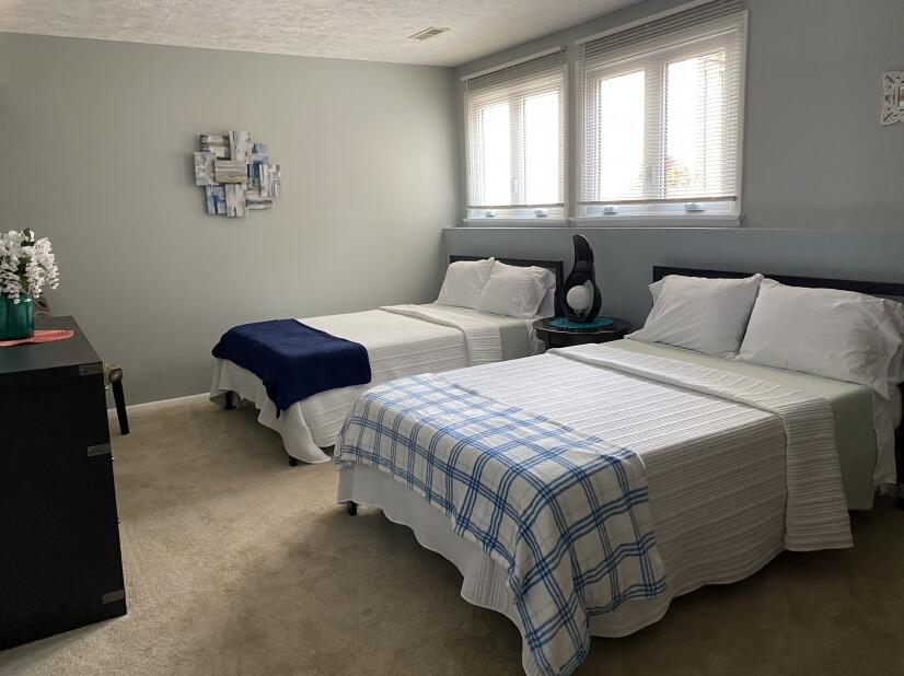 Large lower level bedroom