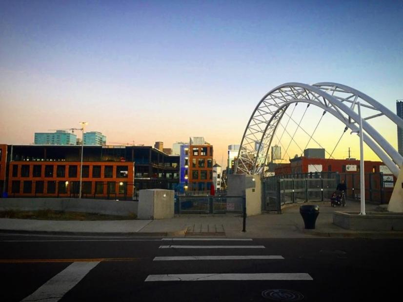 Easy walk to pedestrian bridge to downtown Denver