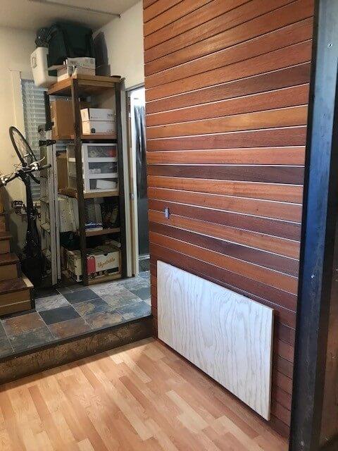 Bedroom 2 with new drop/down desk