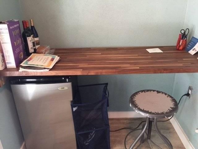 2nd floor Walnut computer desk/eating area