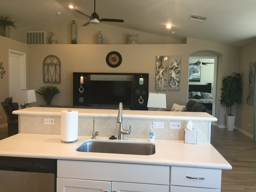 Open concept for kitchen and great room