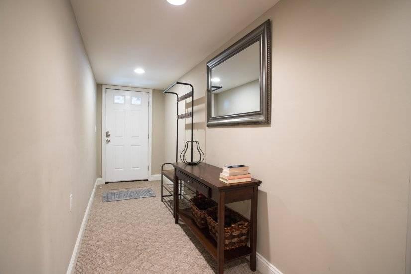 Basement door entrance