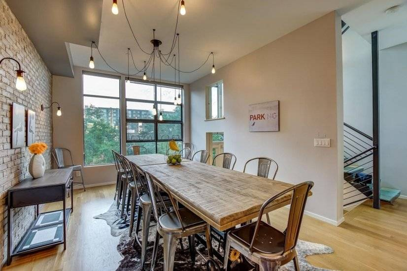 Dining room with seating for 12.