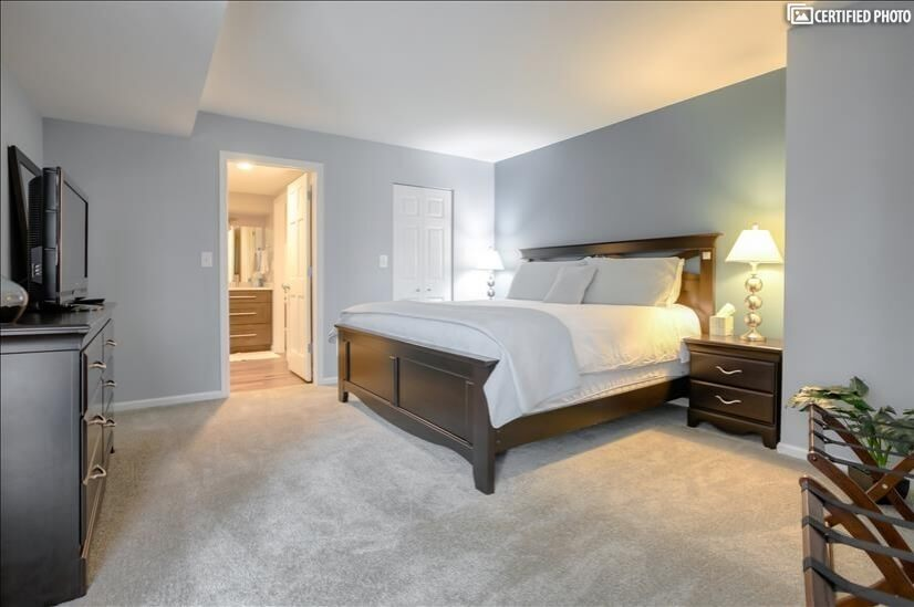 Master Bedroom with Walk in Closet