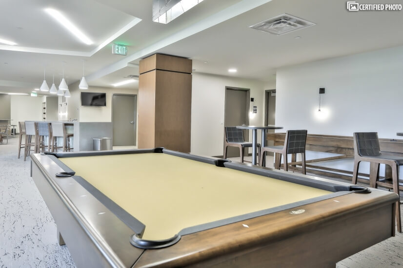 Community Room with Pool and Shuffle Board