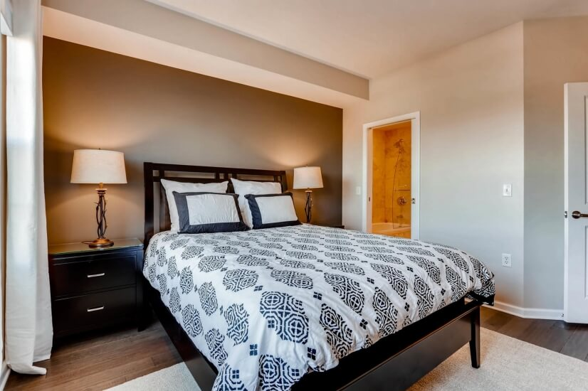 New queen size bed, just bring your linens!