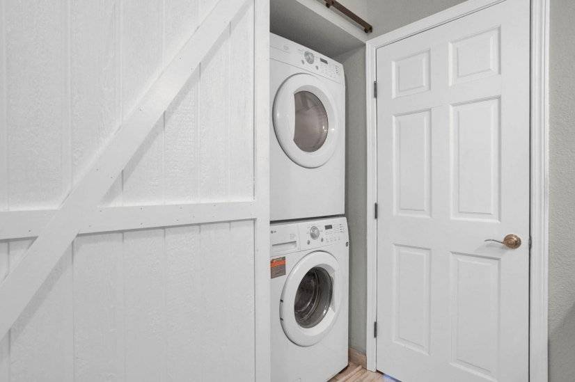 Laundry in Hall Bath
