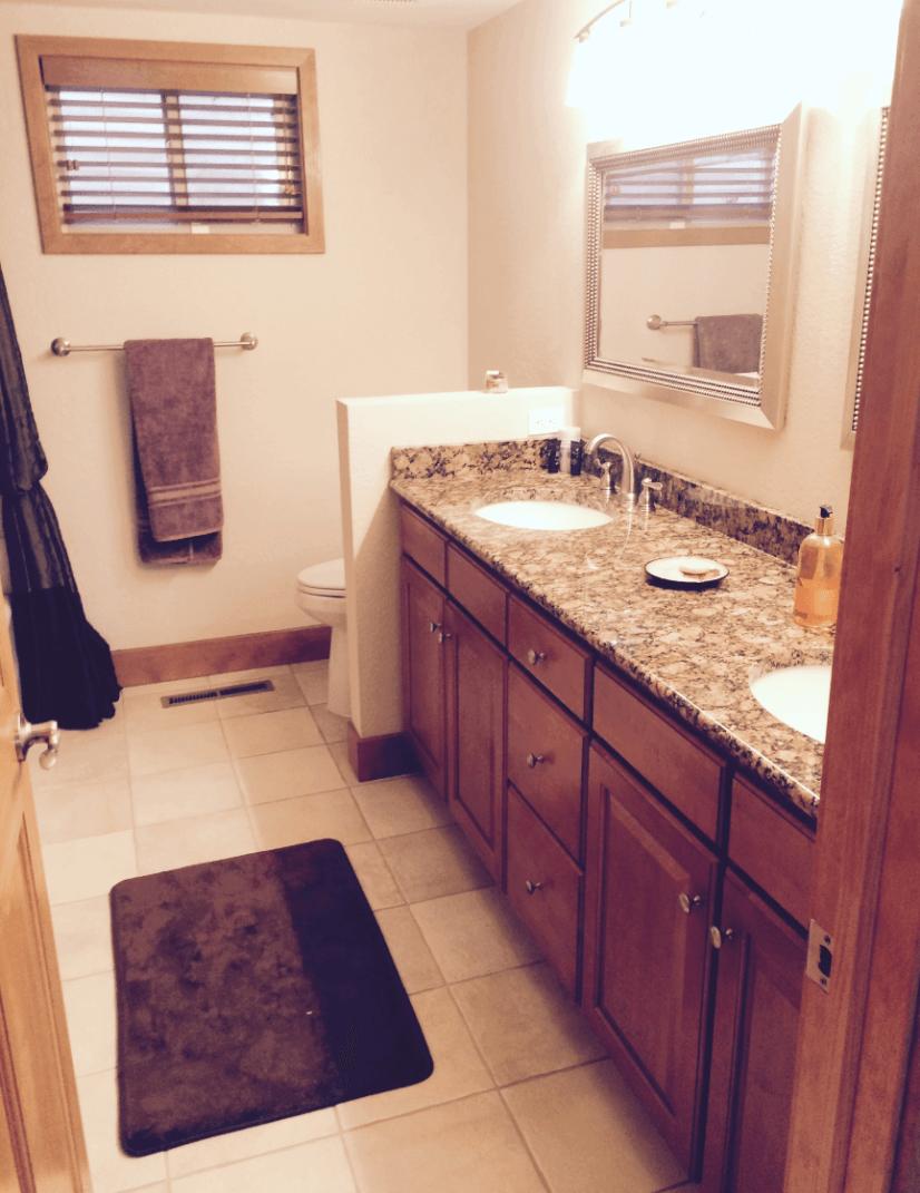 Lower Level Bathroom Dual Sink