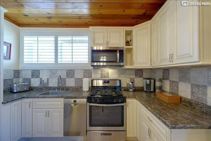 Kitchen equipped with new appliances