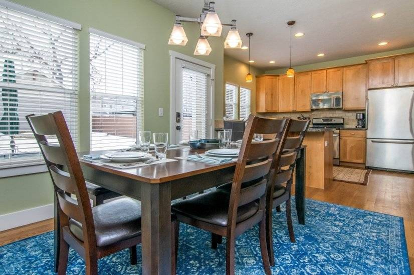 Dining table for 6 and updated kitchen