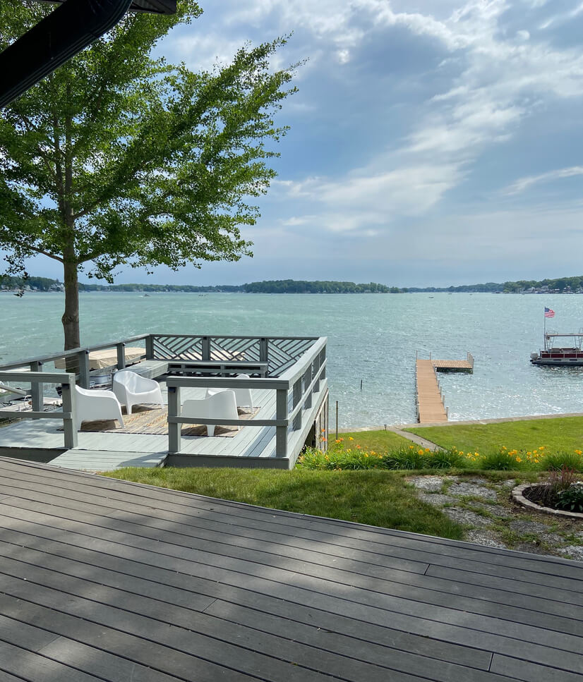 Enjoy Two Decks and a Private Dock