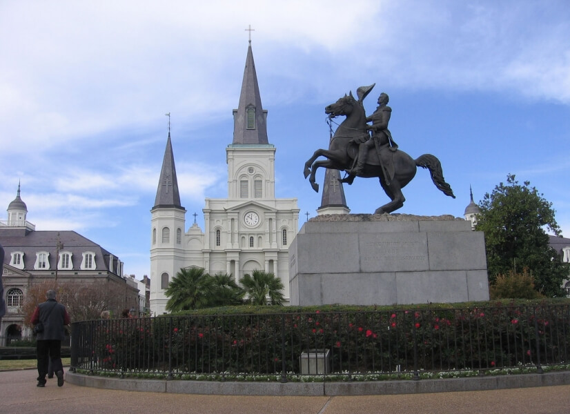 Jackson Square in the Heart of the French Quarter