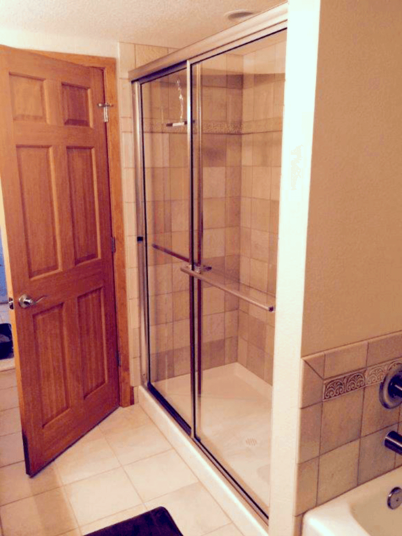 Lower Level Bathroom Separate Shower and Tub