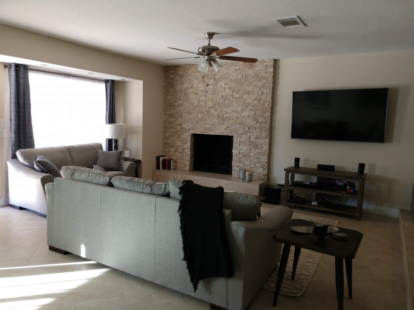 Living Room - fireplace, entertainment center