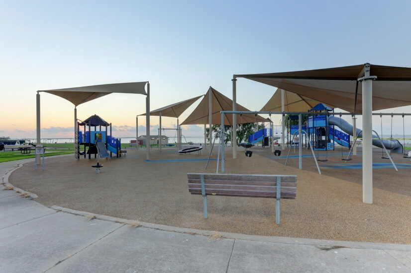 Amazing playground at Sylvan Beach Park just across the stre