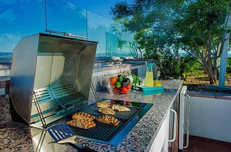 Rooftop BBQ with extensive views