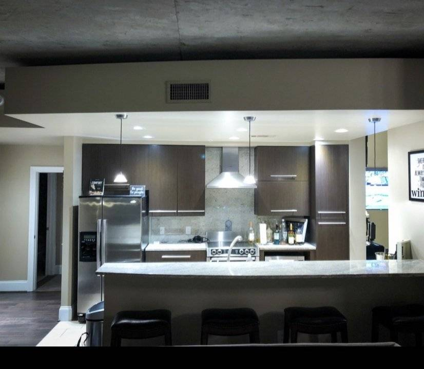 View of bar/kitchen area