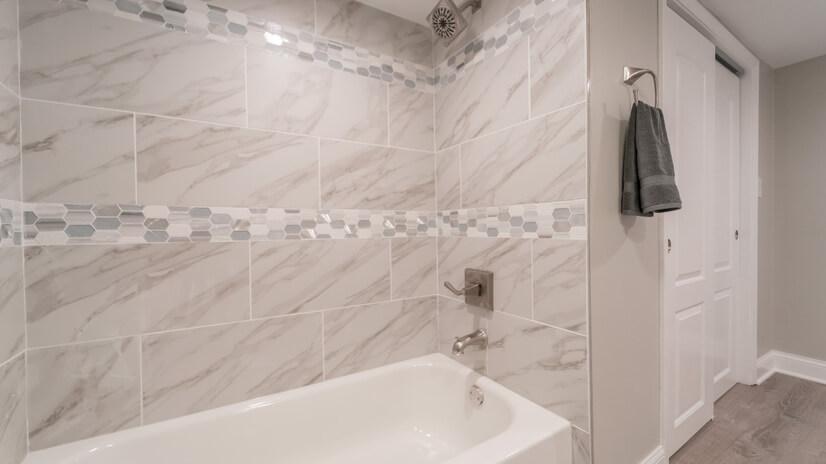 Surround Shower/Tub Downstairs Bathroom