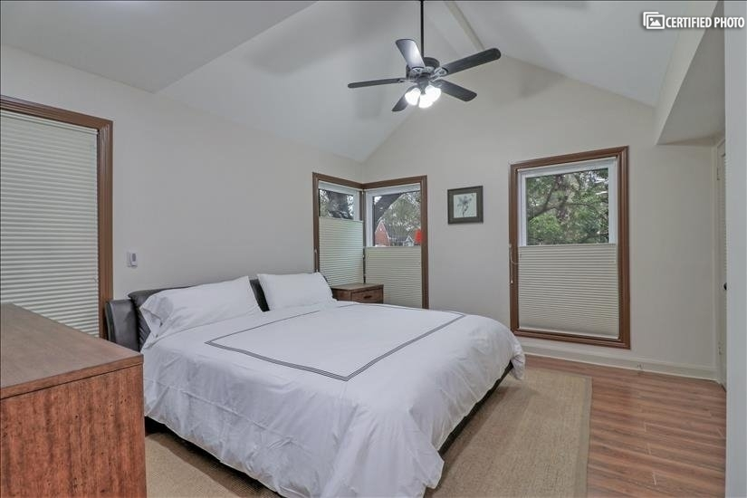 Master Bedroom - King size bed; overlooks the front street.