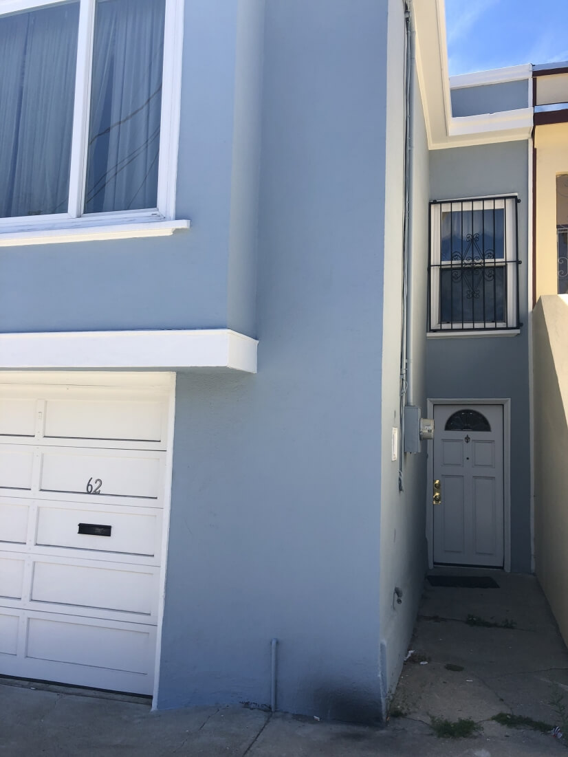 Side of the house separate entrance for two units
