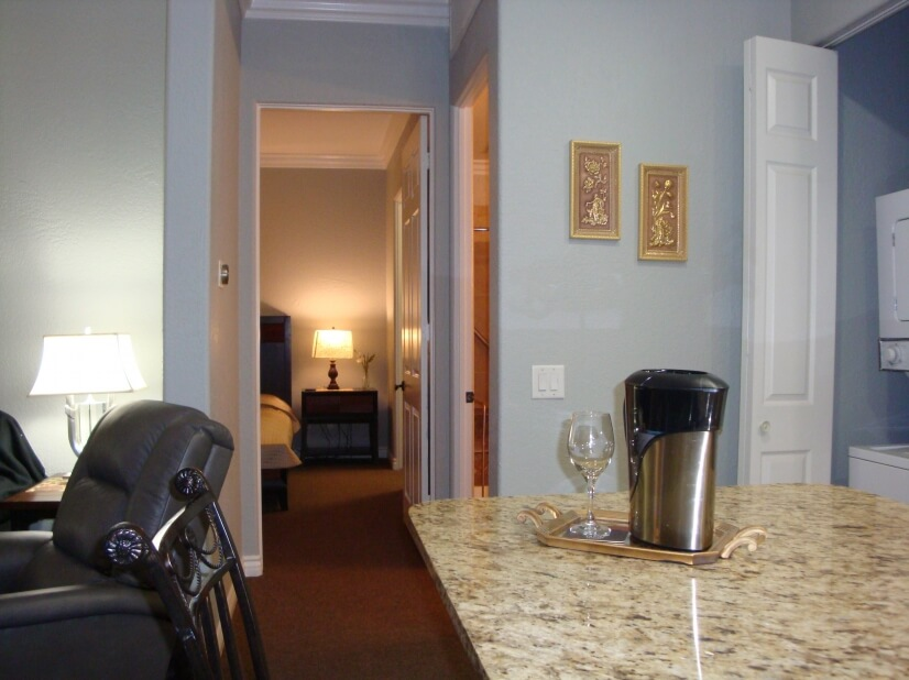 Entrance to room area.