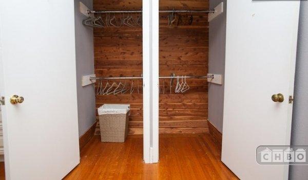 Cedar lined double closet