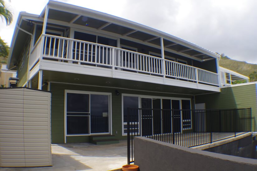 Front of house that faces the Bay/Ocean