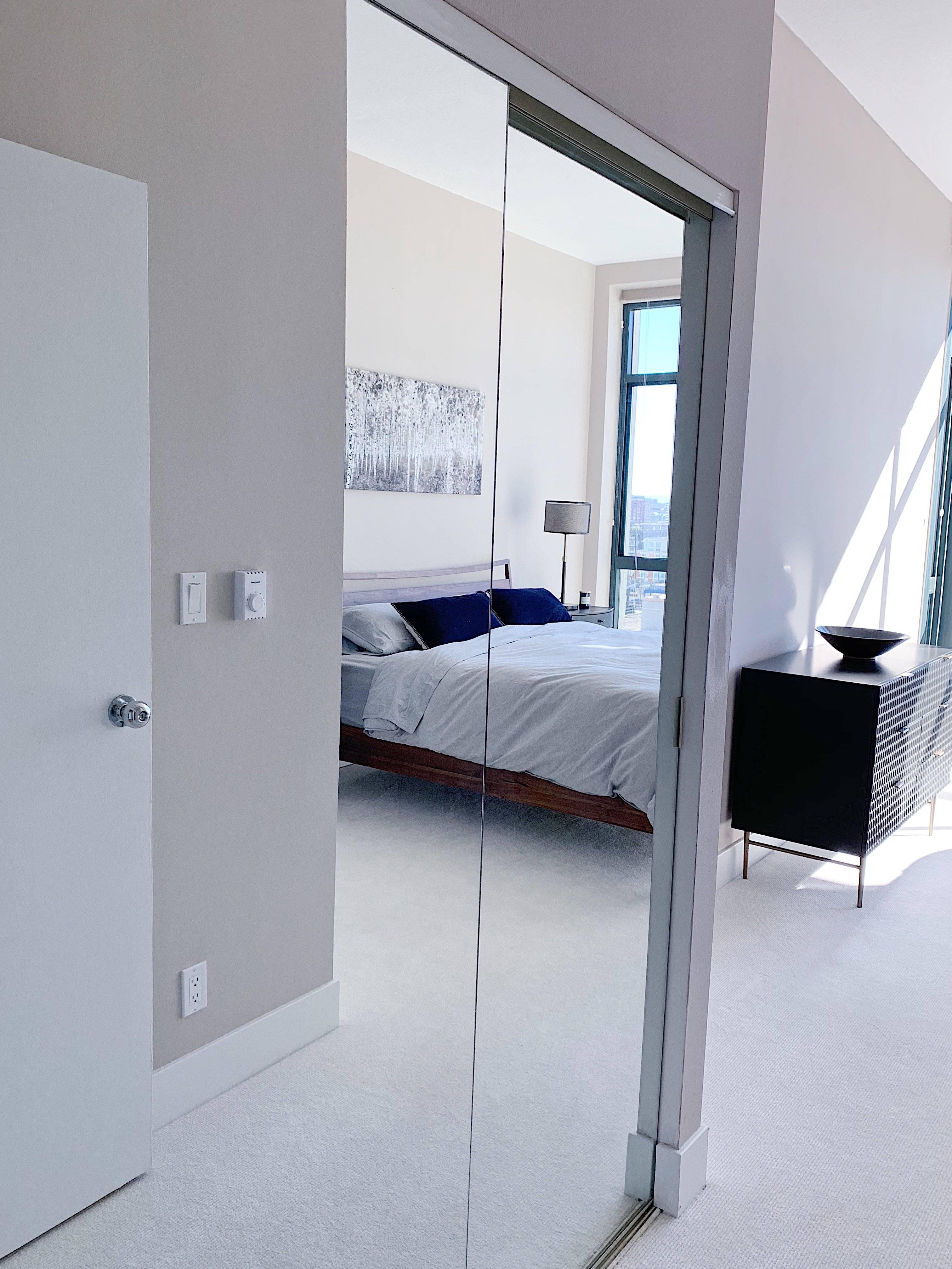 2 closets in bedroom