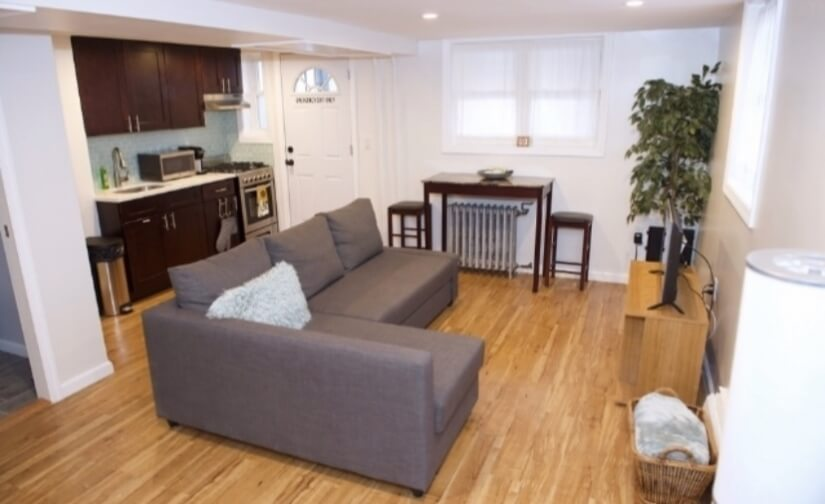 Living Area & Fully Equipped Kitchen with New