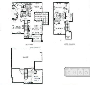 Floorplan - 2 br, 2 1/2 ba, 2 1/2 car garage