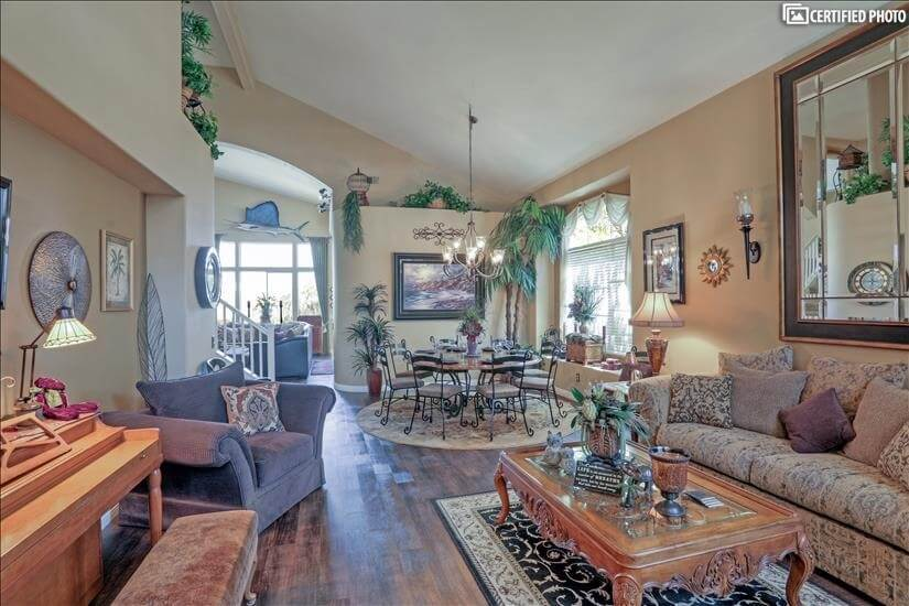 Living Room and formal dining area.