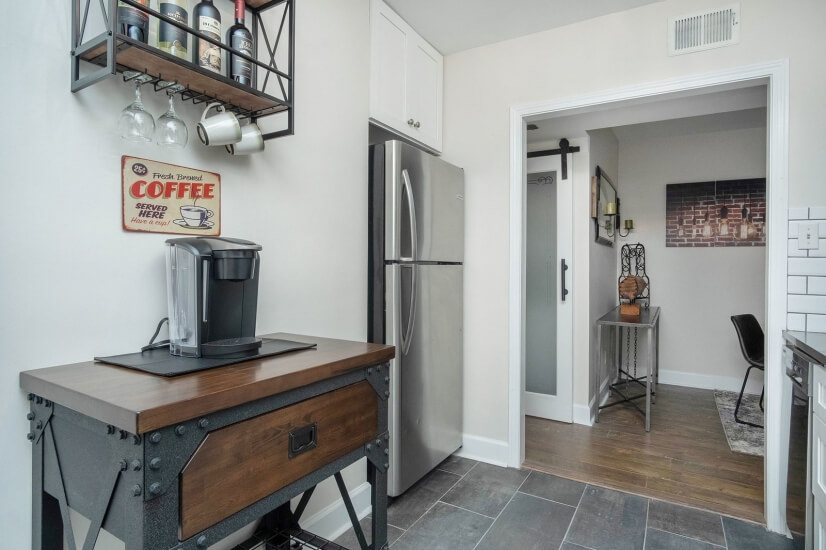 Kitchen Cart for Storage, Coffee Station and Breakfast