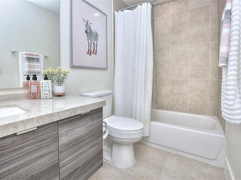 Large master bathroom with soaking tub
