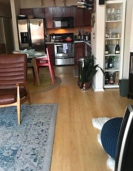 Living Room looking into the Kitchen - open floor plan